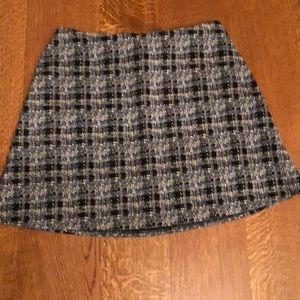 LOFT Plaid Patterned Miniskirt L